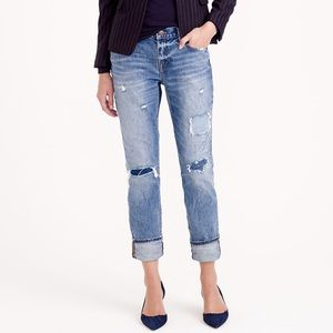 J. Crew Broken in Boyfriend Jeans Harbor Wash